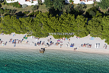 Tučepi beach - aerial view