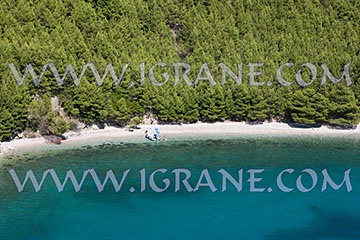 Aerial view of beach in Igrane